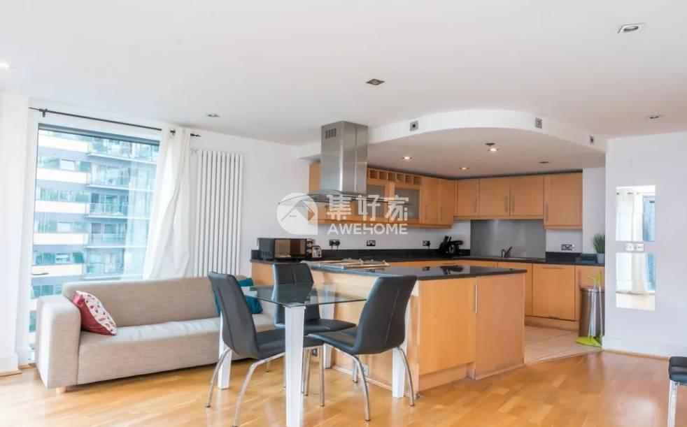 伦敦,狗岛内 特价375两居 宽敞两居 家具家电全