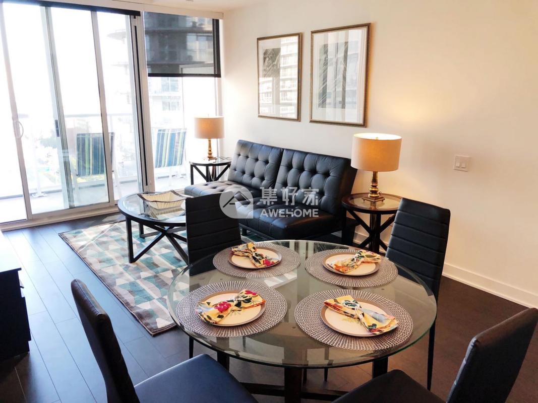 多伦多,多伦多市中心湖边全新带家具景观房